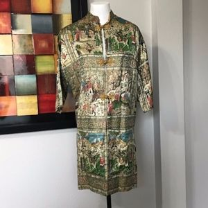 Vintage Handmade Asian Inspired Silk Jacket